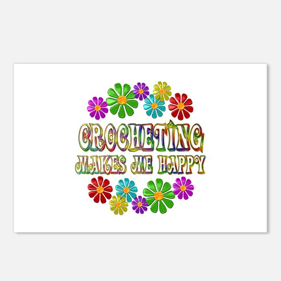 Crocheting Happy Postcards (Package of 8)