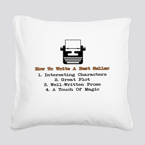 Write A Best Seller Square Canvas Pillow