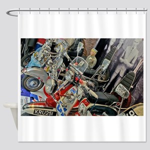 MODS SCOOTERS QUADROPHEN Shower Curtain