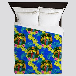 Sunset And Surfboards Queen Duvet