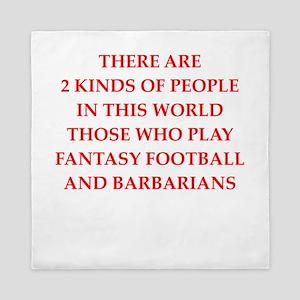 fantasy football Queen Duvet