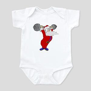 Working out Santa Infant Bodysuit