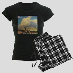 Open Range by Maynard Dixon Women's Dark Pajamas