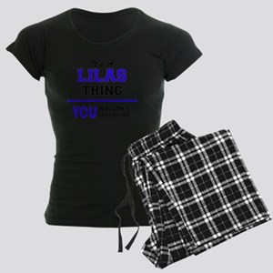 It's LILAS thing, you wouldn Women's Dark Pajamas