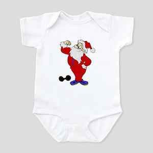 Strong Santa Infant Bodysuit