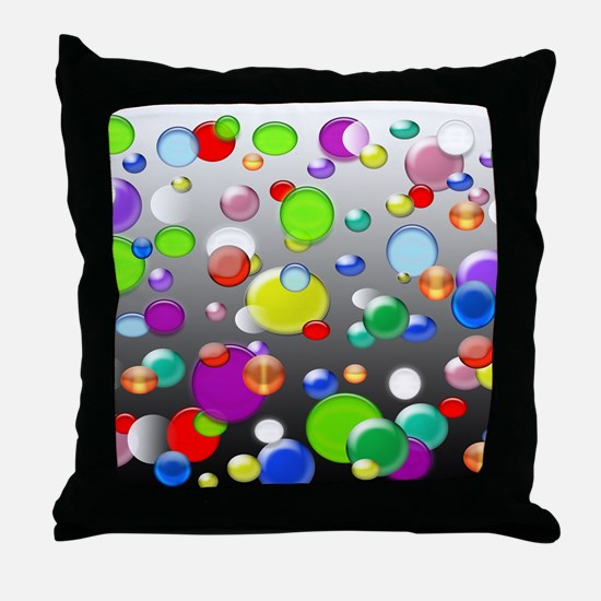 Colorful marbles and beads Throw Pillow
