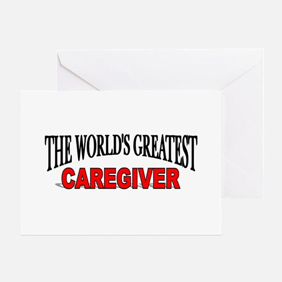 """The World's Greatest Caregiv Greeting Cards (Pack"