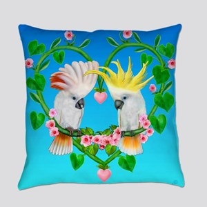 Cockatoos of the Heart Everyday Pillow