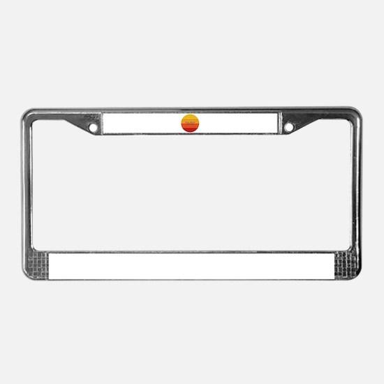 New York - Long Beach License Plate Frame