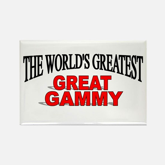 """""""The World's Greatest Great Gammy"""" Rectangle Magne"""