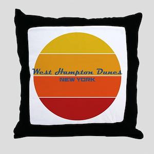 New York - West Hampton Dunes Throw Pillow