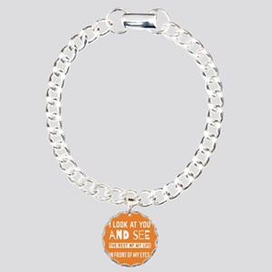 Love Quote For Bride and Charm Bracelet, One Charm