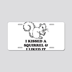 squirrel Aluminum License Plate