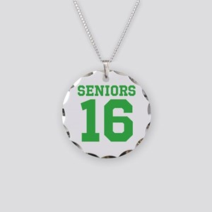 SENIORS 16 - GREEN Necklace Circle Charm