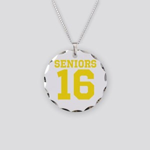 SENIORS 16 - YELLOW Necklace Circle Charm