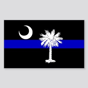 South Carolina Police Rectangle Sticker