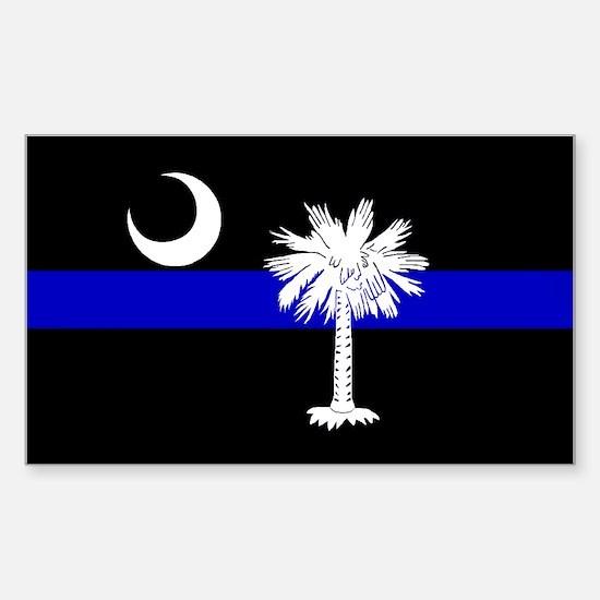 South Carolina Police Rectangle Decal