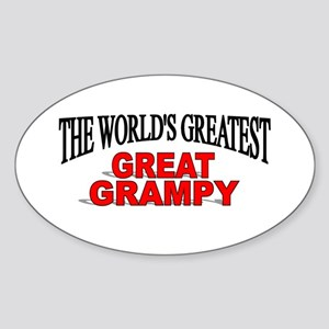 """""""The World's Greatest Great Grampy"""" Oval Sticker"""
