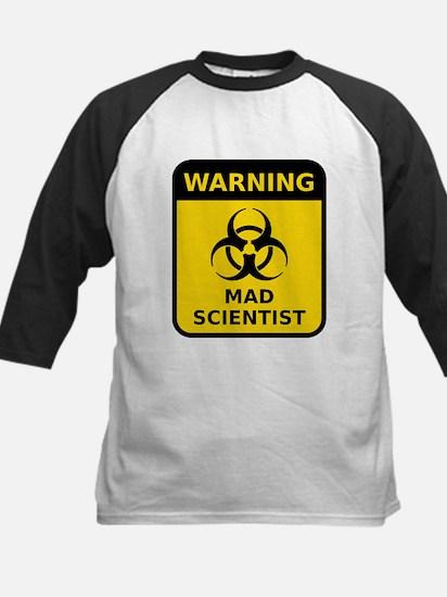 Mad Scientist Warning Sign Baseball Jersey