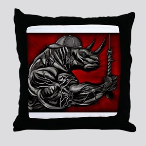 LIFT LIKE A RHINO Throw Pillow
