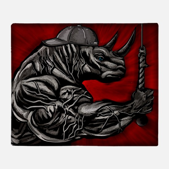 LIFT LIKE A RHINO Throw Blanket