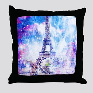 Rainbow Universe Paris Throw Pillow