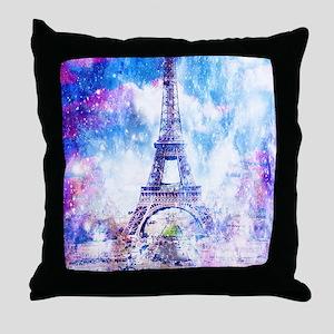 Rainbow Universe Paris Throw Pillow