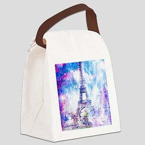 Rainbow Universe Paris Canvas Lunch Bag