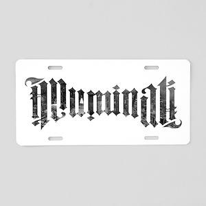 illuminati Aluminum License Plate