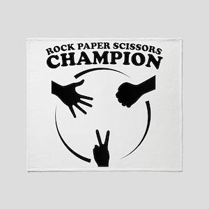 Rock Paper Scissors Champion Throw Blanket