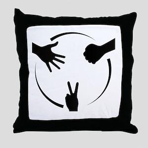 Rock Paper Scissors Throw Pillow