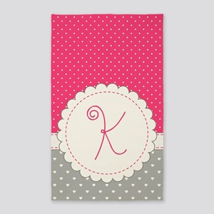 Cute Monogram Letter K Area Rug
