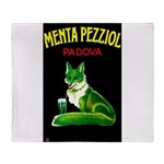 Menta Pezziol Padova Aperitif Liquor Throw Blanket