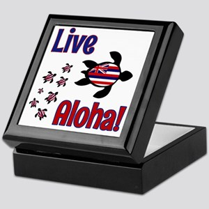 Live Aloha! Hawaii Keepsake Box