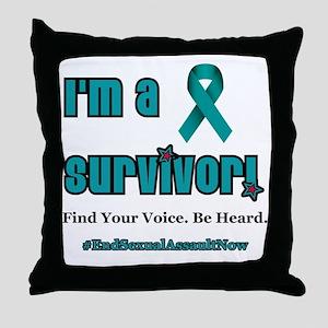I'm a Survivor... Throw Pillow