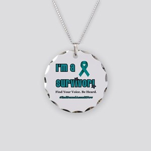 I'm a Survivor... Necklace Circle Charm