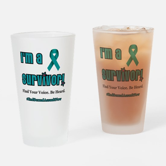 I'm a Survivor... Drinking Glass