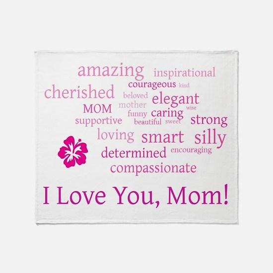 I Love you, Mom! Throw Blanket