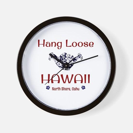 Hang Loose Hawaii Wall Clock