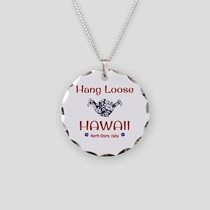 Hang Loose Hawaii Necklace Circle Charm