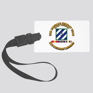 3rd BCT, 3rd ID - OIF w Svc Ribb Large Luggage Tag
