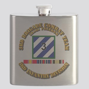 3rd BCT, 3rd ID - OIF w Svc Ribbons Flask