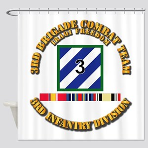3rd Bct, 3rd Id - Oif W Svc Ribbons Shower Curtain