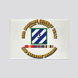 3rd BCT, 3rd ID - OIF w Svc Ribbo Rectangle Magnet