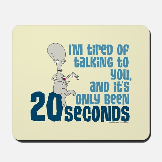 American Dad 20 Seconds Mousepad