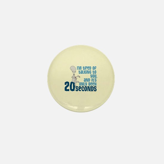 American Dad 20 Seconds Mini Button