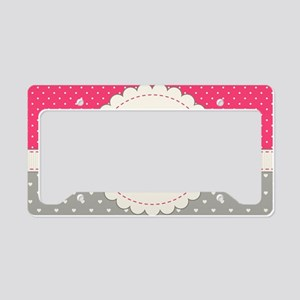 Cute Monogram Letter L License Plate Holder