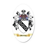Stirling Oval Car Magnet