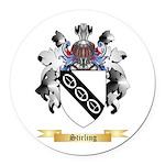 Stirling Round Car Magnet
