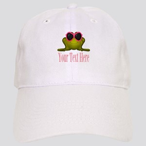 Frog in Pink Sunglasses Custom Baseball Cap